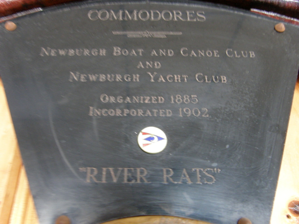 Picture of Commodore Award Plaque at Newburgh Yacht Club