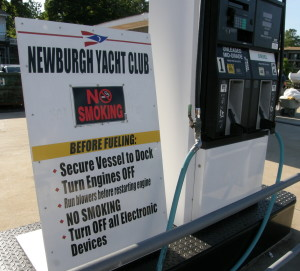 Picture of the Gas Pump Area at Newburgh Yacht Club