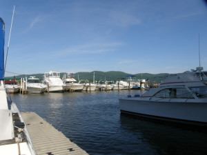 Calm Water at the Newburgh Yacht Club Marina