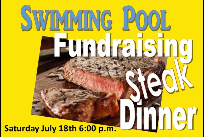 Swimming Pool Steak Dinner Fundraising Dinner