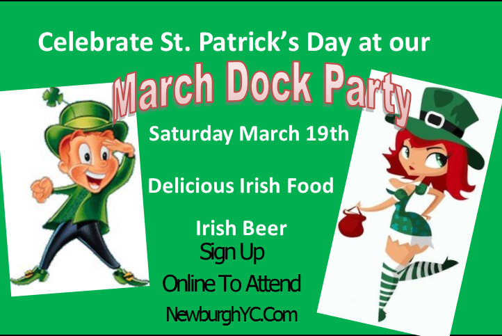Invitation to March Dock Party on March 19 at Newburgh Yacht Club