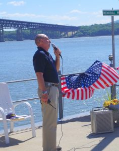 Commodore Greg Dombroski at Blessing of the Fleet