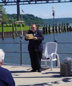 Deacon Peter Haight at Blessing of the Fleet at Newburgh Yacht Club