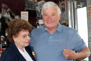 Picture John Antinori gets lefe membership pin from mother Maria Antinori.