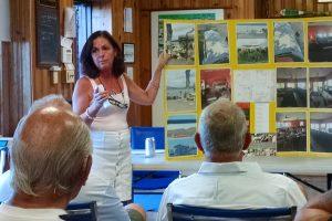 Presentation on dining deck at Newburgh Yacht Club