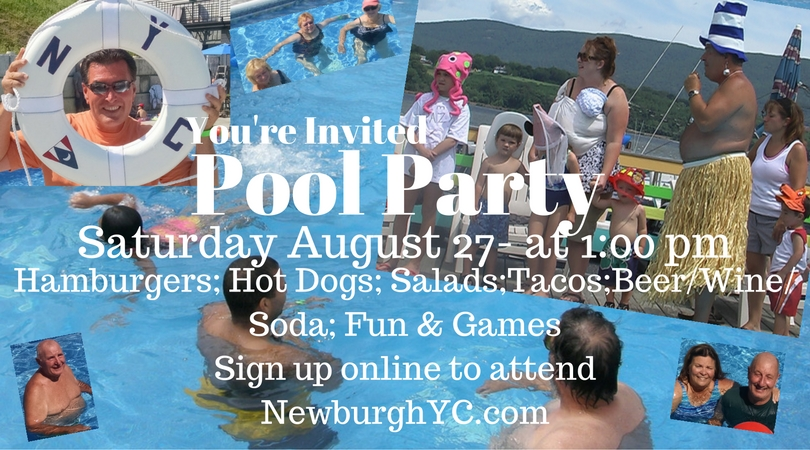 Newburgh Yacht Club Pool Party August 27