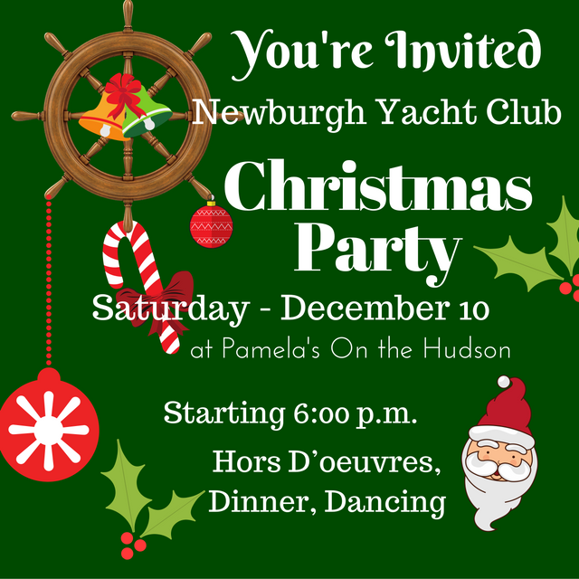 Newburgh Yacht Club Christmas Party at Pamela's On Hudson December 10, 2016