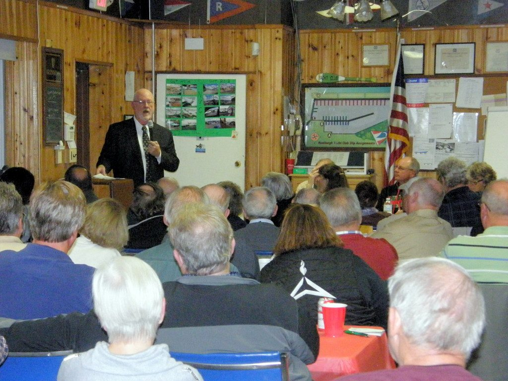 Ed Kelly at Hudson River Boat and Yacth Club Meeting