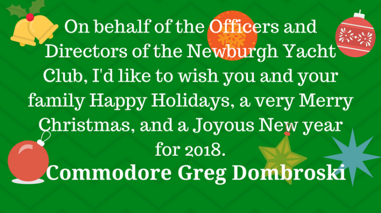 Holiday Greetings from the Commodore